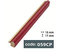 Багет дерев'яний червоний