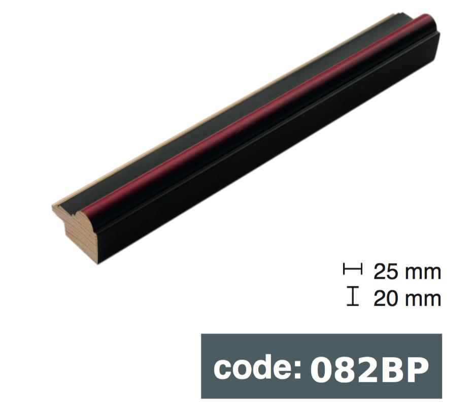 Багет дерев'яний бордово чорний