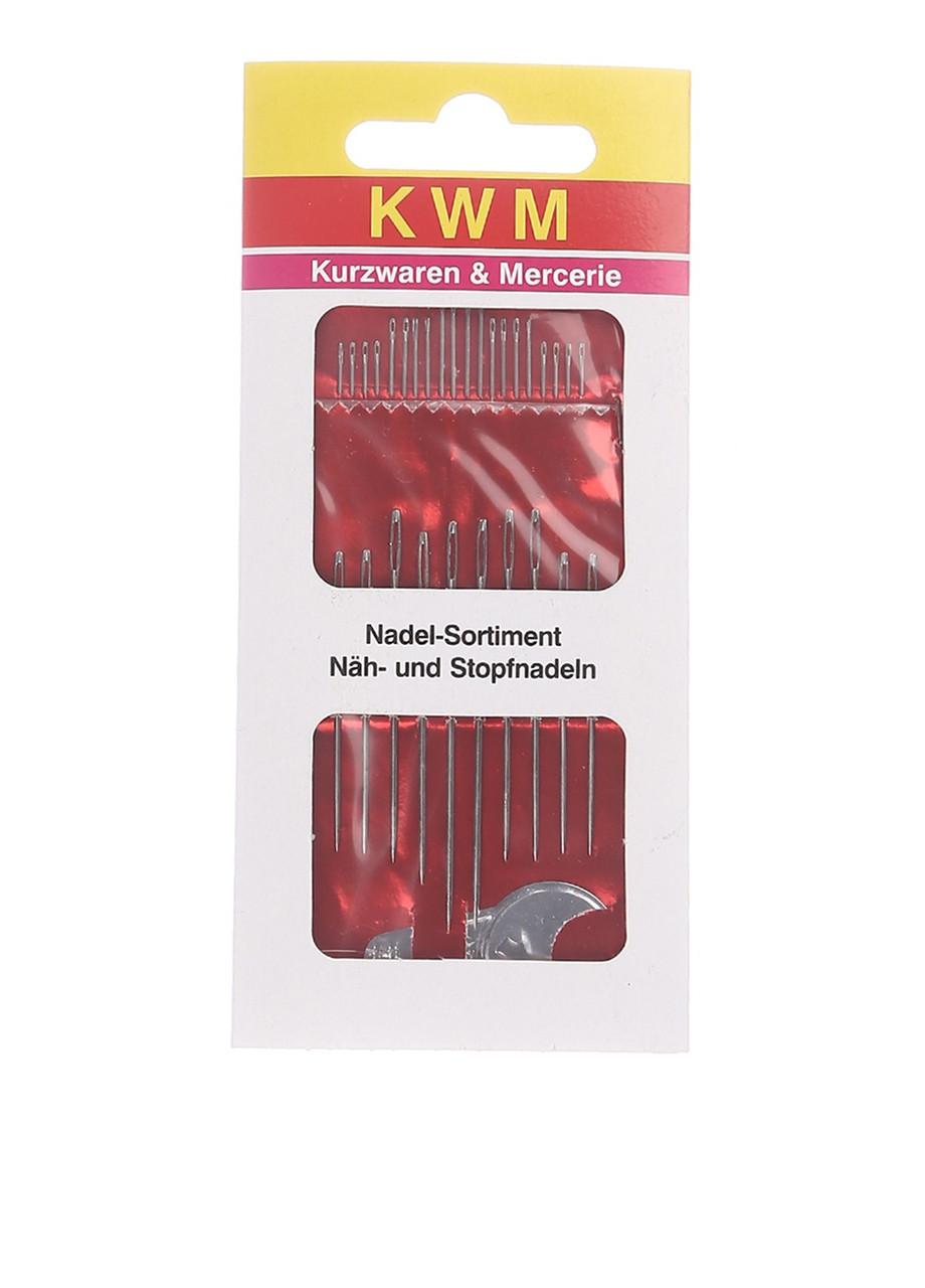 Набор иголок разного размера и  продеватель KWM
