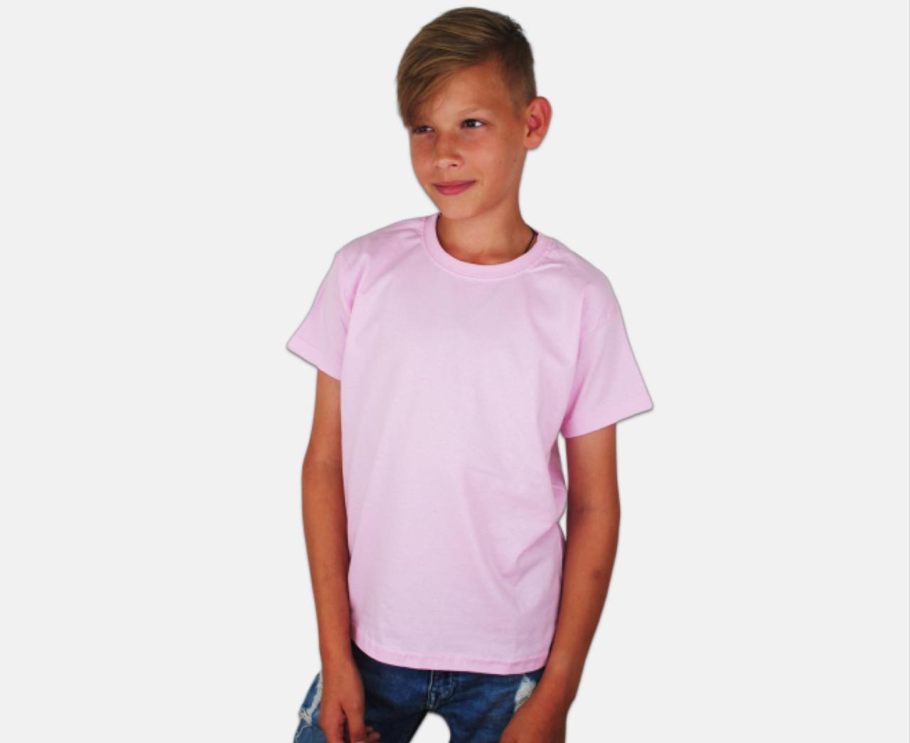 Детская Классическая Футболка для Мальчиков Светло-розовый Fruit of the loom 61-033-52 9-11