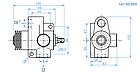 Клапан отсечной пневматический с опорой Hyva 14700506, фото 2