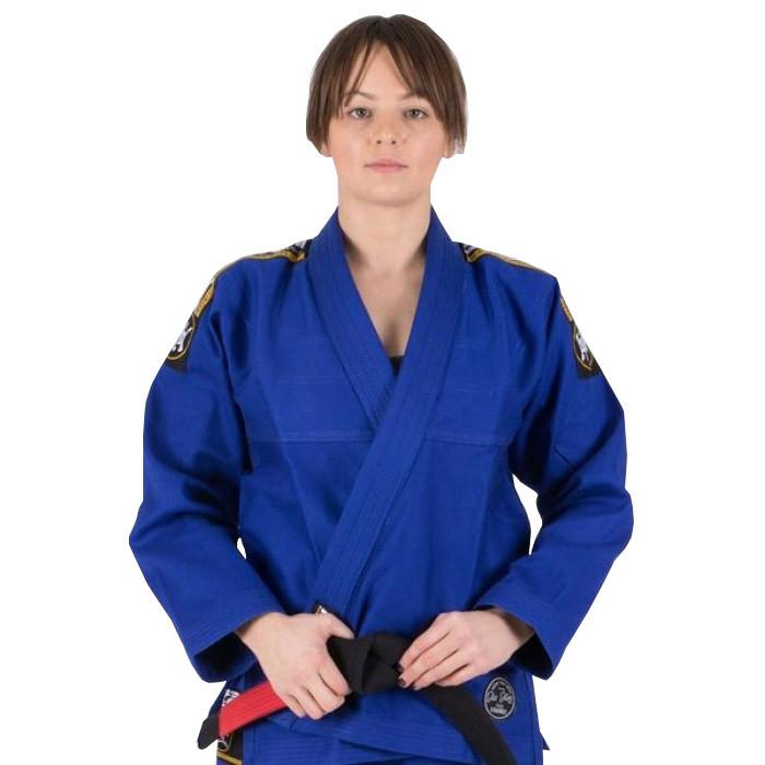 Кимоно женское для бразильского Джиу Джитсу TATAMI Nova Absolute Синее + Белый пояс в комплекте