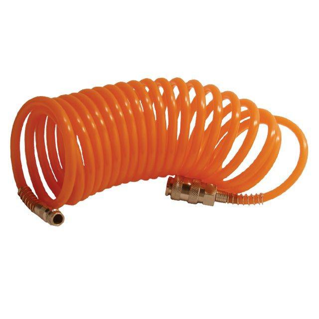 Шланг спиральный с быстроразъемным соединением 10 м, INTERTOOL (PT-1704)