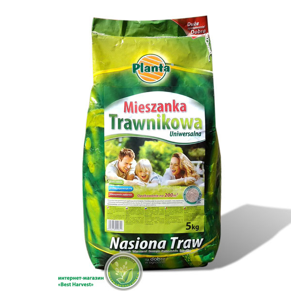 """Семена газонной травы «Универсальная» 5 кг тм """"Planta"""", оригинал"""