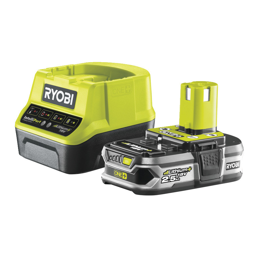 Аккумулятор (18 В; 2.5 А*ч; Li-Ion) и зарядное устройство Ryobi ONE+ RC18120-125