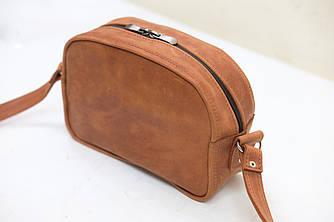 """Женская сумка """"Модель №28"""" Винтажная кожа цвет Коньяк"""