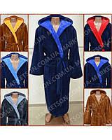 Мужской махровый халат с капюшоном р.44-62.Много размеров и цветов.