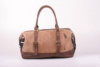 Дорожня сумка з натуральної шкіри