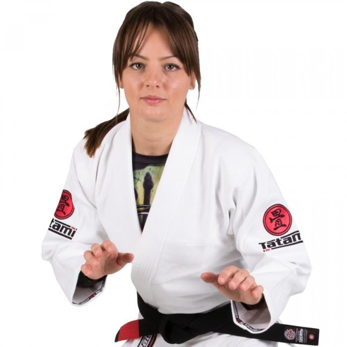Кимоно женское для бразильского Джиу Джитсу TATAMI Nova Minimo 2/0 Белое + Белый пояс в комплекте