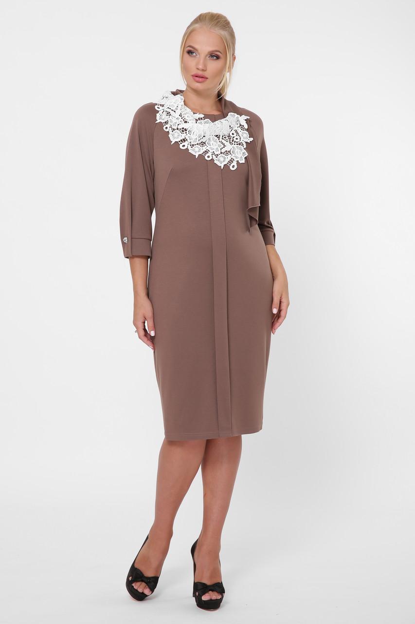 Стильное платье женское Элиза шоколад