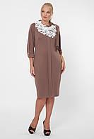 Стильное платье женское Элиза шоколад, фото 1