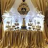 Свадебный Кенди Бар в золотом цвете, фото 3