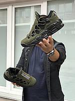 Кросівки чоловічі в стилі   Nike Air More Money  темно зелені  ( із змінними язичками)   ТОП якість