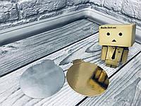 *100 шт* / Подложка под пирожное 9см-РУЧ, Золото-серебро, 90мм/мин 100 шт, фото 1