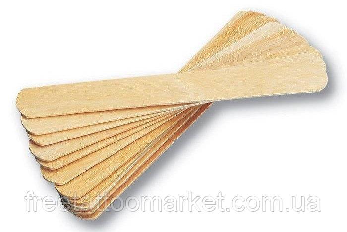 Шпатель деревянный одноразовый широкий 100 шт