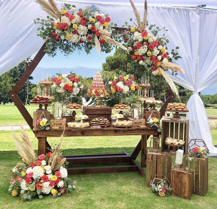 Свадебный Кенди Бар в стиле Бохо