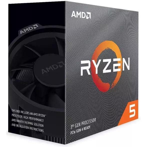 """Процессор AMD Ryzen 5 3600X 3,8 ГГц (100-100000022BOX) BOX  """"Over-Stock"""" Б/У"""
