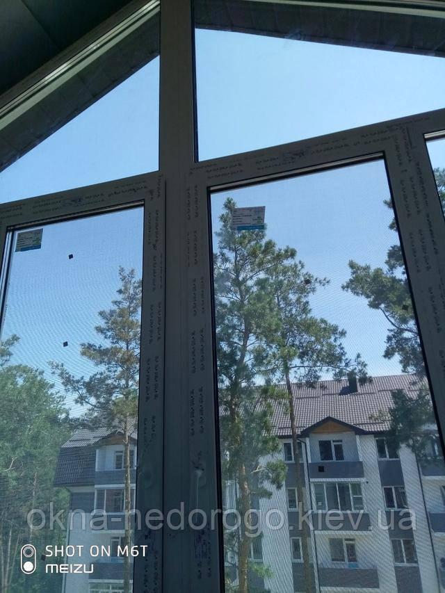 Треугольные окна пластиковые Бортничи ул. Идейная 11 - бригада 2Т