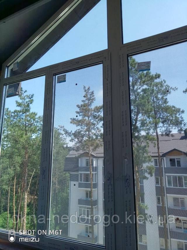 Нестандартные окна пластиковые Рехау в Бортничах - бригада 2Т