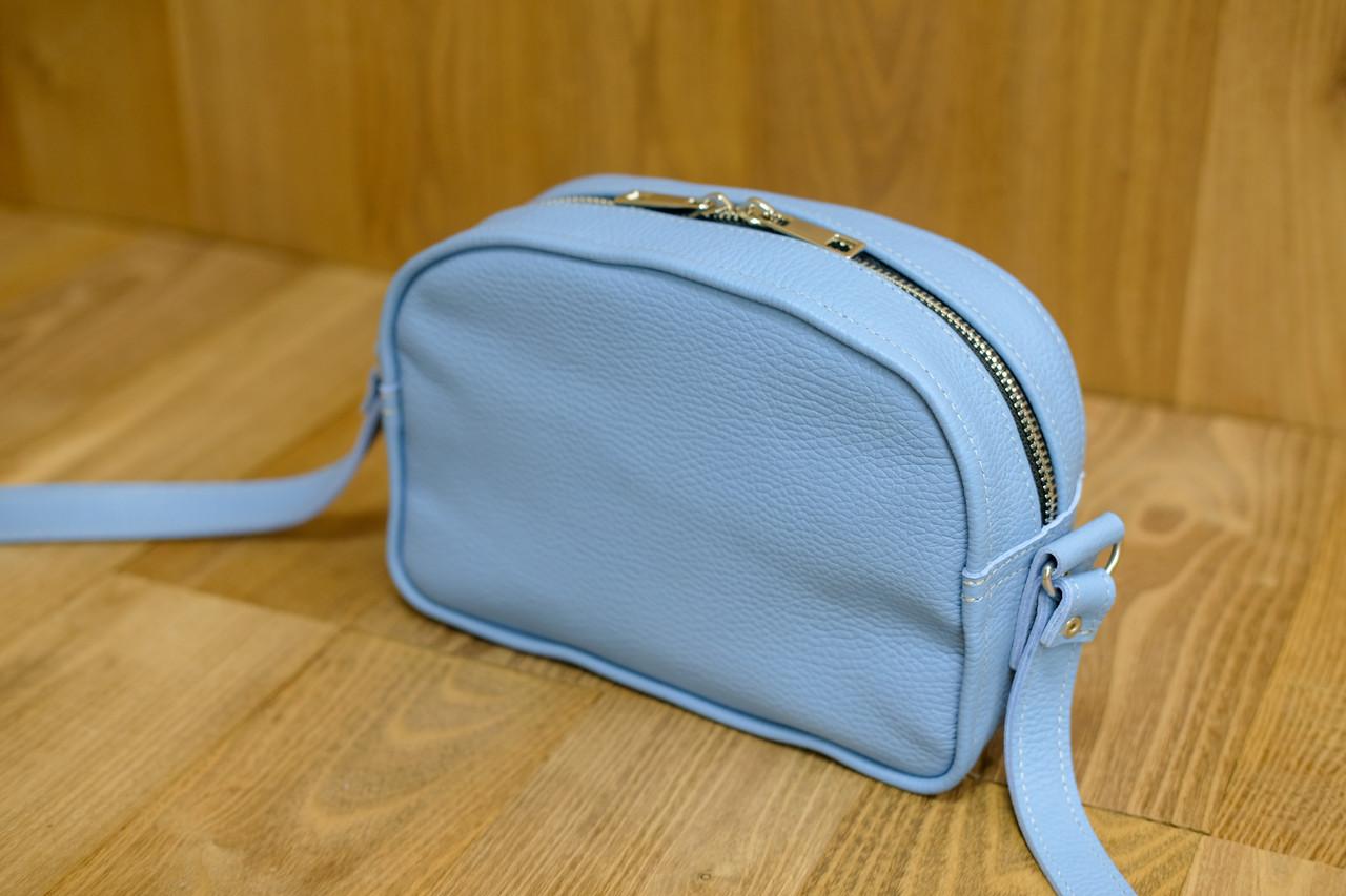 """Женская сумка """"Модель №28"""" Кожа Флотар цвет Голубой"""