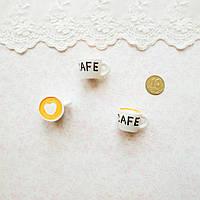 Миниатюра Чашечка Cafe 18*15 мм БЕЛАЯ, фото 1