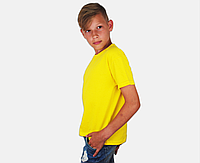 Детская Классическая Футболка для Мальчиков Ярко-жёлтая Fruit of the loom 61-033-K2 14-15, фото 1