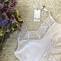 Белая атласная пижама с кружевом Martelle Lingerie, фото 3