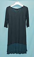 Платье женское трикотаж,двунитка,низ плисеровка(48-54)