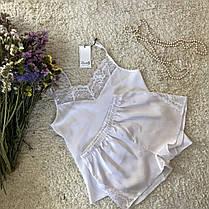 Белая атласная пижама с кружевом Martelle Lingerie, фото 2
