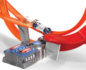 Hot Wheels Power Shift Super Loop Трек Хот Вилс Безумный форсаж Супер Петля Моторизированный с 5 машинами, фото 2