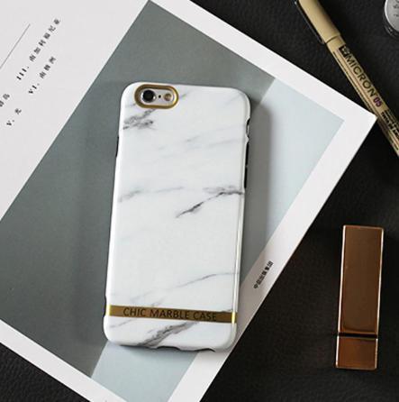 Чехол силиконовый Chic marble case для iPhone 6 Plus / iPhone 6S Plus белый мрамор