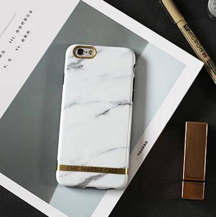 Чехол силиконовый Chic marble case для iPhone 6 Plus / iPhone 6S Plus белый мрамор, фото 2