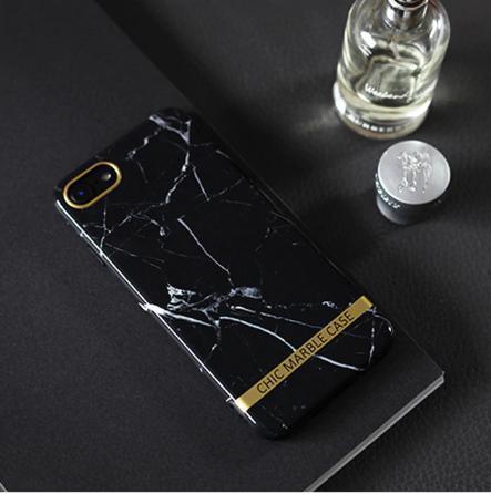 Чехол силиконовый Chic marble case для iPhone 6  / iPhone 6S черный мрамор