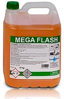 Жидкое средство SaneChem MEGA FLASH для ежедневного очищения всех типов твердых полов, 5/10 кг