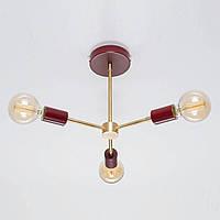 Потолочный светильник Lars бордовый, фото 1