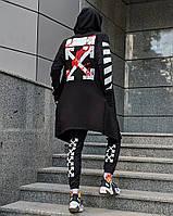 Мантия унисекс в стиле Off white Fire Cross черная