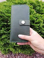 Хит ОСЕНИ! Женский  кожаный кошелек из натуральной кожи ручной работы Revier цвет хаки