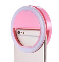 Светодиодное розовое кольцо для селфи на батарейках