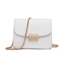Маленькая белая сумочка на цепочке, фото 1