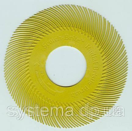 Радиальный круг Scotch-Brite™ Bristle BB-ZB 150мм P80 желтый, фото 2