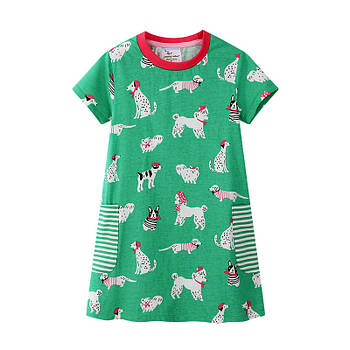 Платье для девочки Собачки Jumping Meters