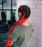 Канекалон коса двухцветный омбре черно-красный  60 см., фото 5