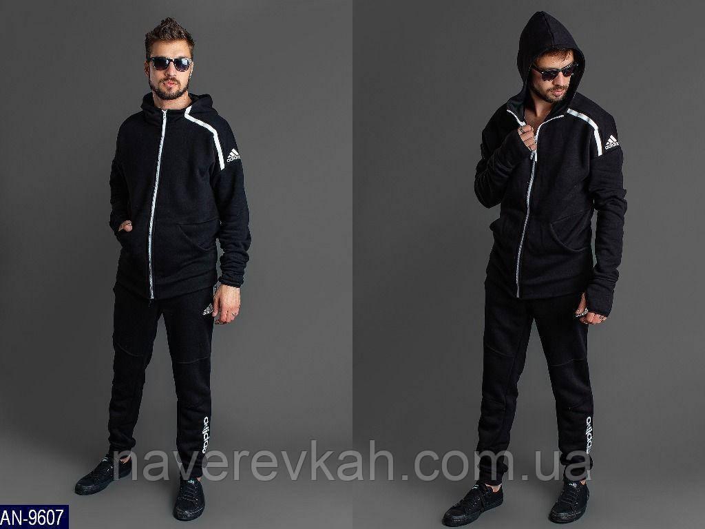 Мужской  спортивный костюм черный 54-56 58-60