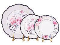 Набор из 18 фарфоровых тарелок Камелия 935-015