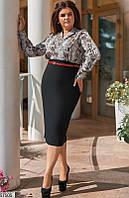 Платье футляр большого размера с принтом питон