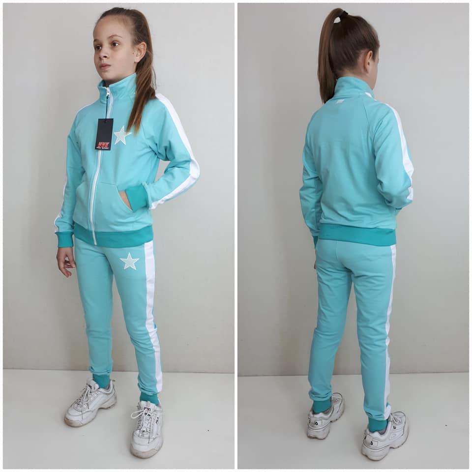 """Спортивный  костюм """"Лампас """" на девочку подростка  цвет  мята"""