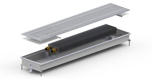 Конвектор внутрип. M -(Inox) 230/760/720/90 Carrera Угловой