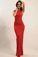 Нарядное вишневое женское платье в пол по фигуре RiMari Венеция  52