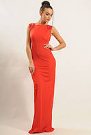 Нарядное красное женское платье в пол по фигуре RiMari Венеция 52
