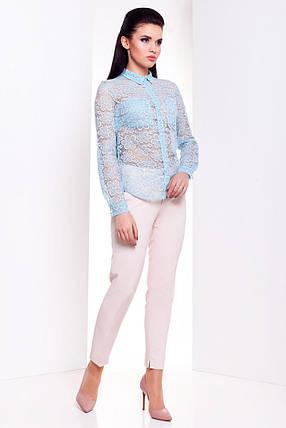 Модная женская блуза с длинным рукавом (S, M, L) мята, фото 2